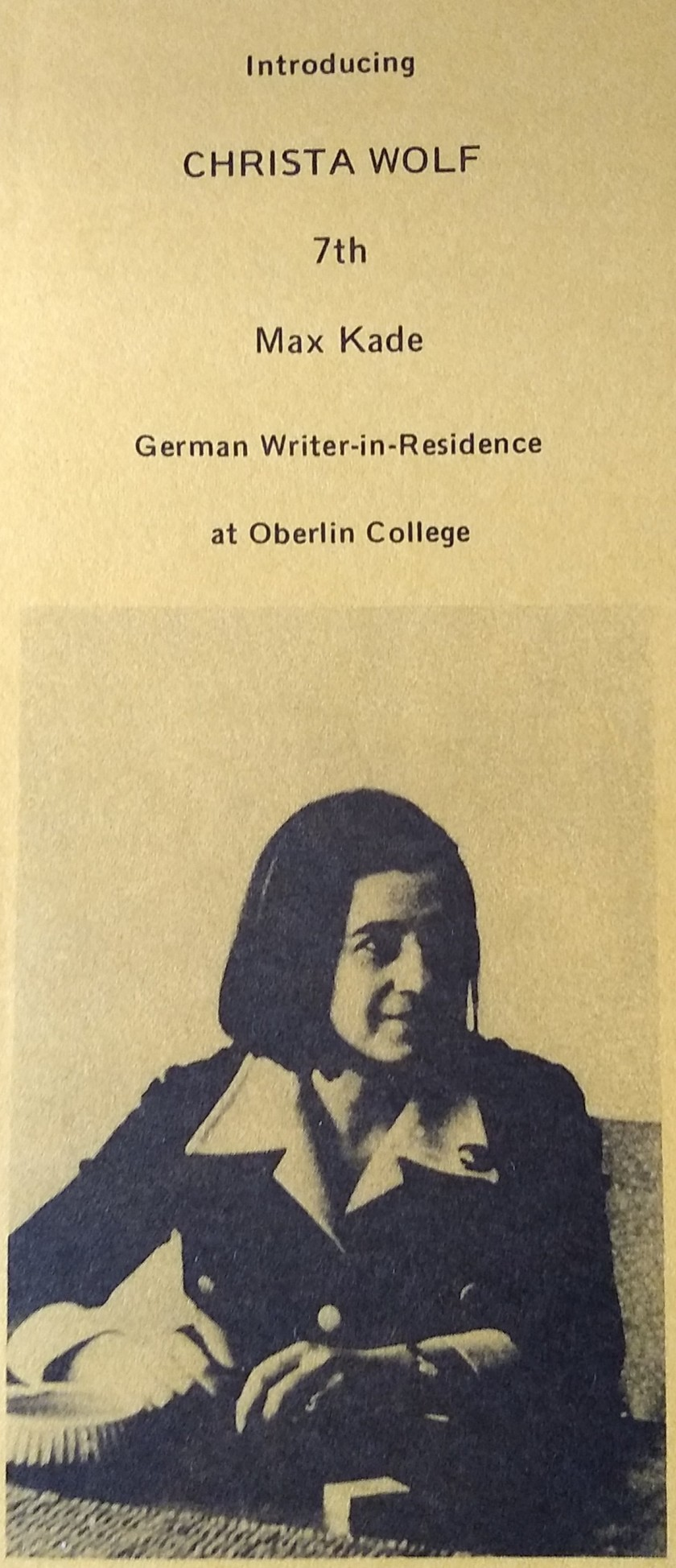 christa wolf brochure front
